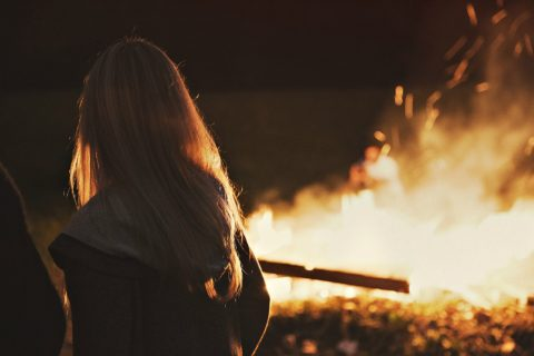 staring at a campfire is one of the many ways to meditate outdoors