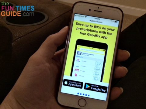 It's quick, easy, and FREE to download the GoodRX app on your phone.