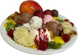 a not so healthy junk food filled plate. here are some good junk foods