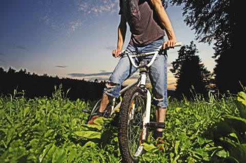 biking is one of the many fun ways to meditate when you're alone
