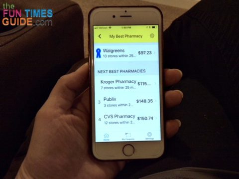 The GoodRX app makes it easy to compare prices at local pharmacies and get prescription discounts... for FREE!