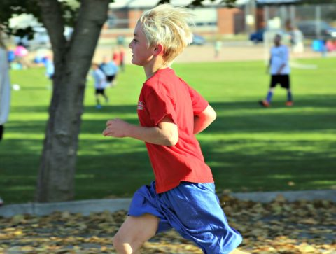 kids fitness can include heading to the park together as a family and do sprints