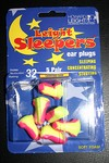 A lifetime supply of 'Leight Sleepers' foamy self-expanding earplugs!