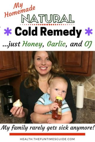 My homemade natural cold remedy uses just garlic, honey, and Orange Juice