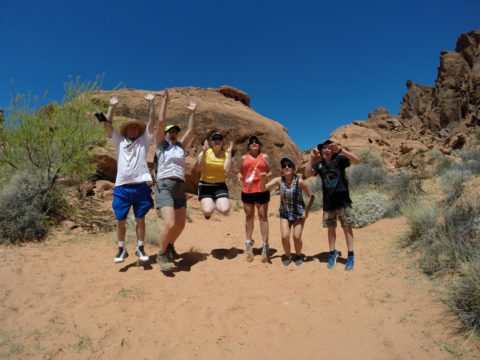 outdoor fitness can be achieved through a family hike while on vacation