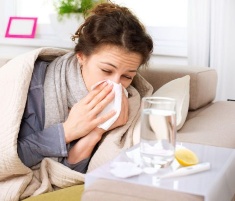 Sick at home with the flu
