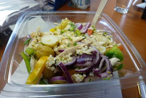 Healthy Fast Food Options - A side salad is a great alternative over French fries. photo by Ambernectar13 on Flickr