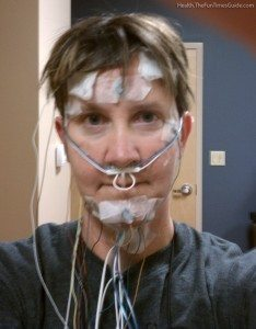 All of the sleep study wires necessary for a sleep test