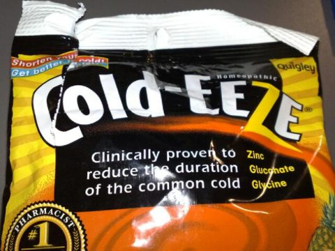 Cold-eeze is very helpful to cut your symptoms in half.